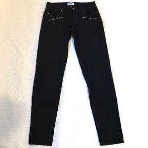 Paige Moto Black Skinny Jeans